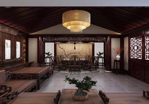 中式四合院会所设计效果图,中式会所门脸装修效果图