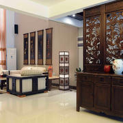 客厅中式局部一居室装修