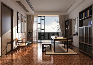 中式書房連臥室裝修效果圖大全,簡中式臥室帶書房裝修效果圖大全