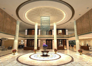 复式宾馆大厅装修效果图,欧式宾馆大厅装修效果图