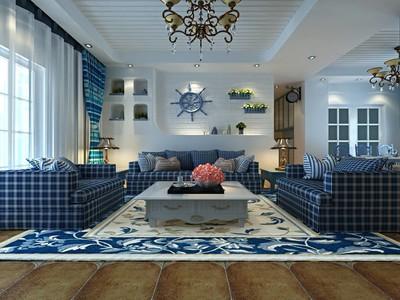 温馨地中海风格客厅装修效果图,地中海风情客厅装修效果图