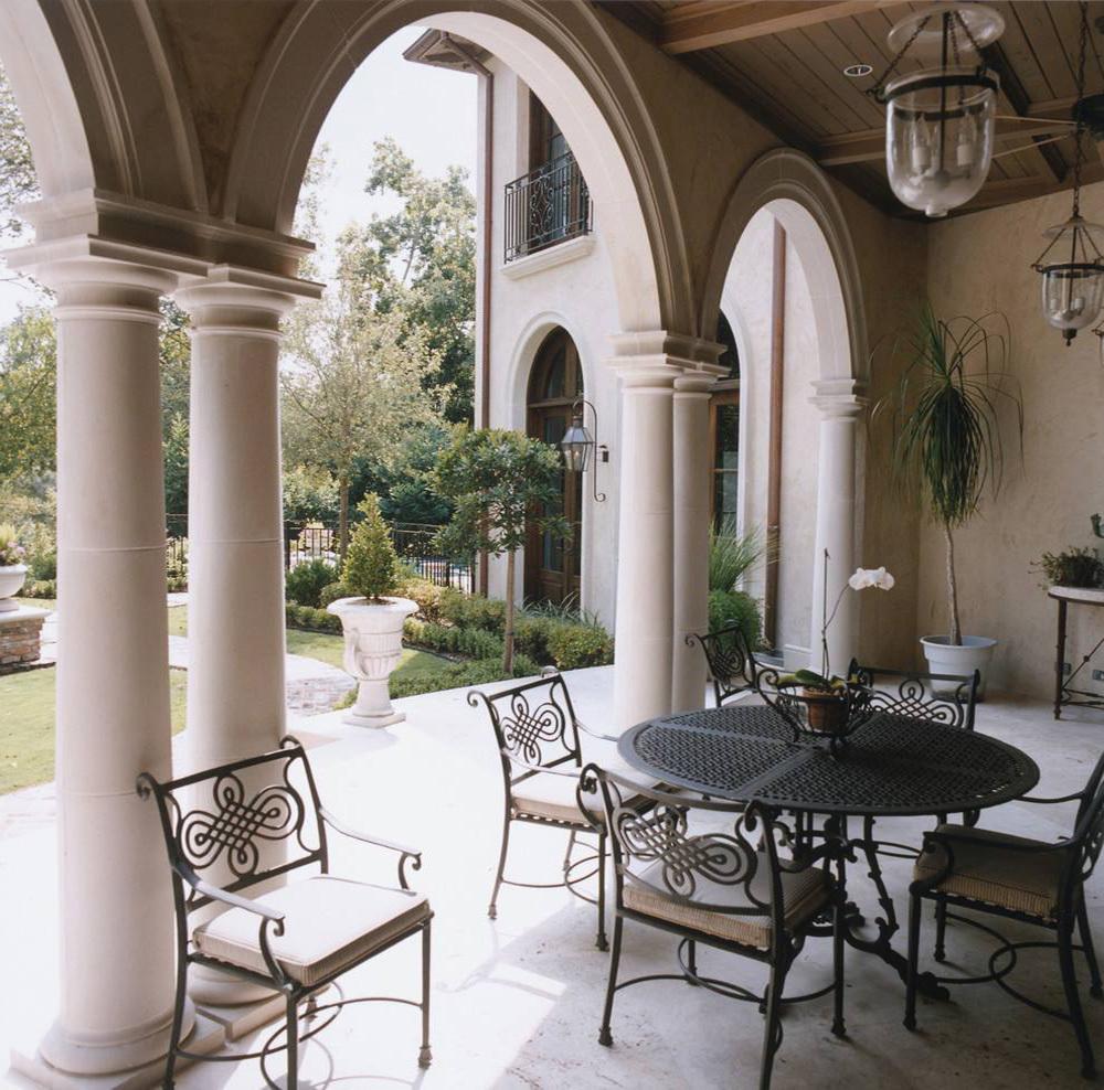 欧式装修罗马柱外观效果图大全,欧式古典圆罗马柱装修效果图大全