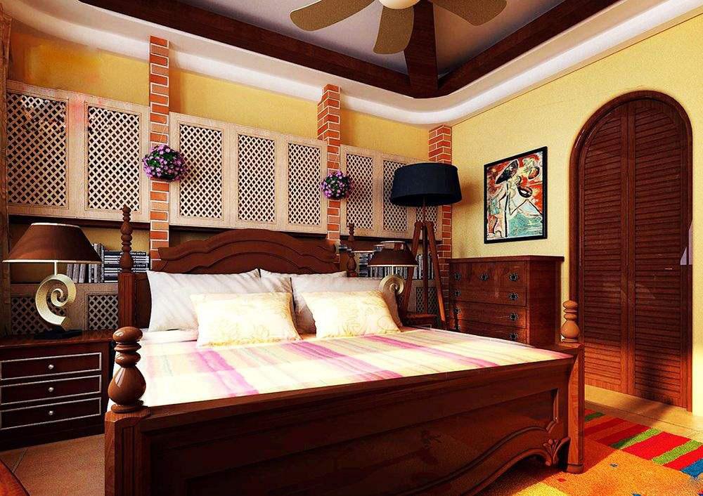 大户型东南亚风格装修效果图,东南亚风格装修卧室效果图
