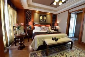 东南亚风格卧室兼书房装修效果图,福州东南亚风格装修效果图