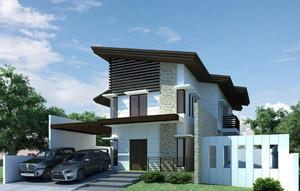 农村两层半小别墅设计效果图,农村自建两层半小别墅效果图大全