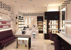 化妆品店吊顶装修效果图,小型化妆品店装修效果图
