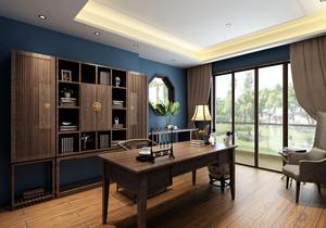 中式书房兼卧室装修效果图,中式书房卧室一体装修效果图