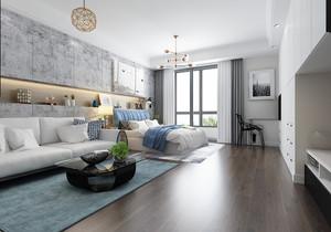 45平米酒店式(shi)公寓裝修效果圖,45平米的單(dan)身公寓如何裝修