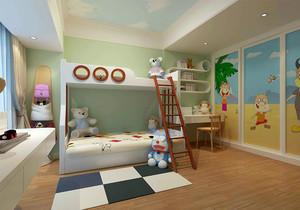 儿童房衣柜与上下床效果图,儿童房上下床带衣柜装修效果图大全
