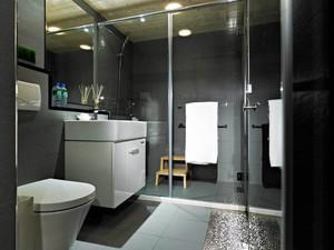 黑白现代简约卫生间装修效果图大全,卫生间现代简约装修效果图大全