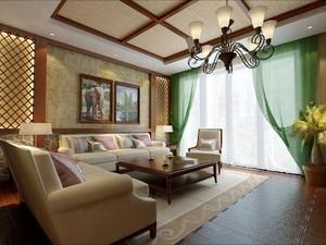 东南亚装修风格别墅,别墅东南亚风格客厅装修图片大全