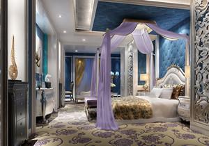欧式别墅公主卧室装修效果图,欧式别墅主卧室装修效果图