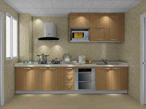 1米宽一字型小厨房装修效果图,小户型一字型厨房装修效果图
