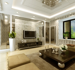 客廳與餐廳電視隔斷裝修效果圖,客廳和餐廳電視柜隔斷裝修效果圖