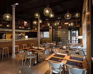 100平方装修图片西餐厅,饭店餐厅厨房设计效果图