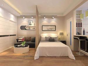 一樓40平米小院效果圖,一居室小公寓裝修效果圖