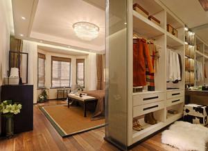 衣帽間和主臥一體圖,衣帽間臥室一體效果圖