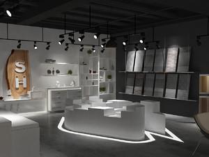 装修公司材料展厅效果图,装修公司主材展厅效果图