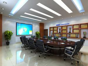 办公室会议室背景墙效果图,办公室会议室的装修效果图