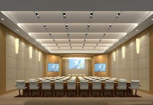 酒店大型会议室走廊装修效果图,大型会议室现代简约效果图大全