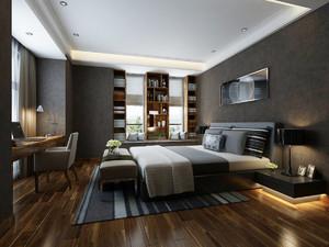 北欧风格别墅主卧室装修效果图,别墅主卧室套房装修效果图
