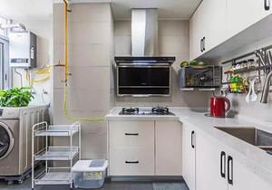 洗衣机放厨房装修效果图,厨房放洗衣机冰箱装修效果图