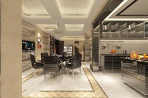 美式别墅西式厨房装修效果图,别墅西式敞开厨房装修效果图