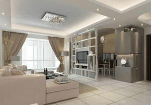 客廳與餐廳隔斷墻裝修效果圖,客廳和餐廳電視墻隔斷裝修效果圖