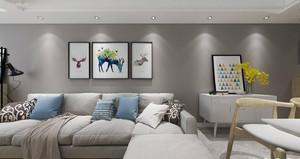 家裝客廳景墻設計效果圖,家裝北歐客廳電視墻設計效果圖