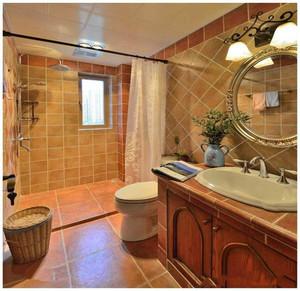 美式卫生间地砖效果图,卫生间地砖彩色效果图