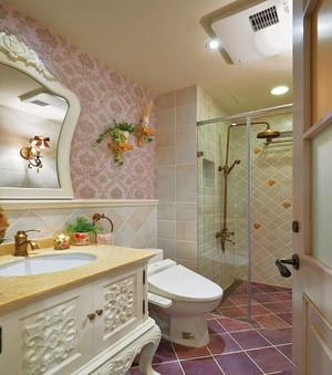 正方形的3平方小卫生间装修效果图,正方形无窗小卫生间装修效果图