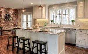 楼梯西式厨房装修效果图,西式欧式厨房装修效果图
