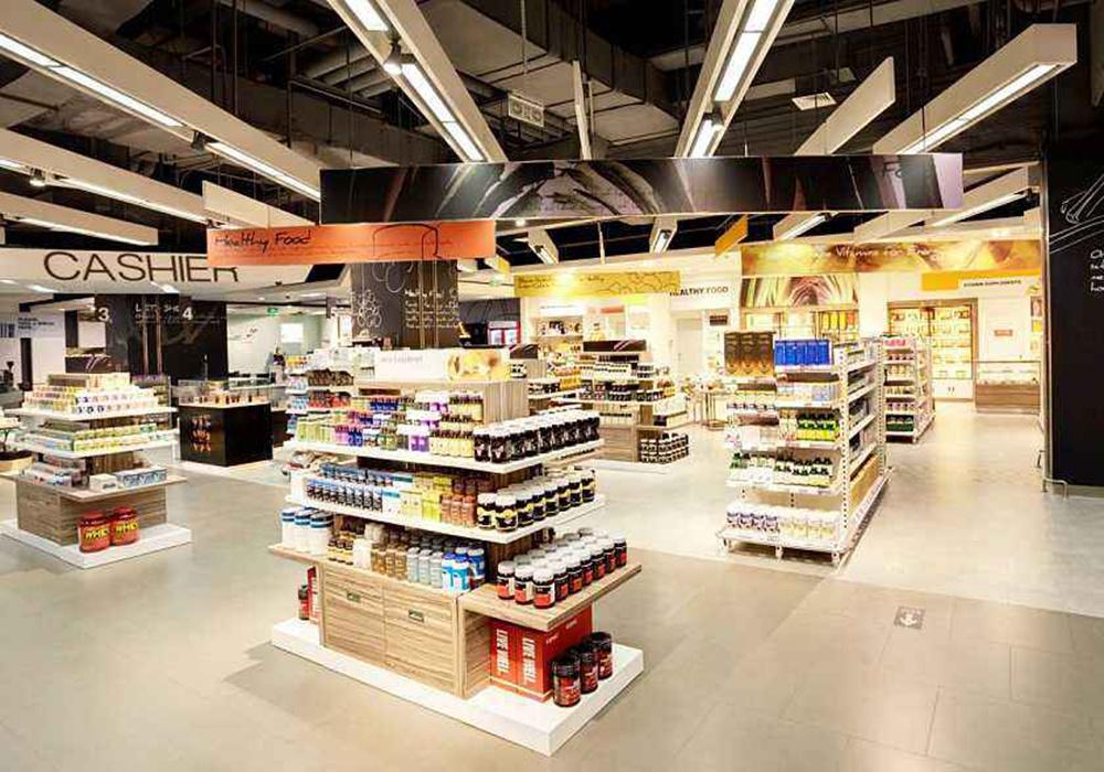 超市装修设计效果图,50平米超市装修效果图
