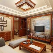 客厅中式局部90平米装修
