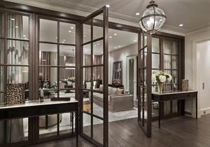 隔断柜简约现代客厅效果图大全,现代客厅隔断柜加门效果图