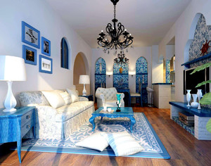 裝修地中海風格客廳效果圖大全,地中海風格裝修圖片客廳效果圖