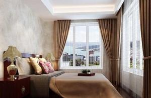 现代中式大厅窗帘效果图大全,现代中式装修窗帘效果图