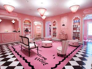 韩国化妆品店装修效果图,粉色化妆品店装修效果图