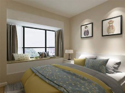 带飘窗的卧室整体装修效果图,带飘窗的少女卧室装修效果图