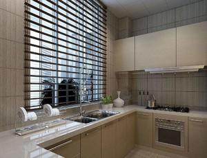 厨房飘窗窗帘装修效果图,美式厨房窗帘装修效果图