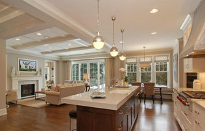 开放式小厨房客厅装修效果图,小厨房中式开放式装修效果图