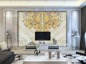 中式装修餐厅大理石背景墙图片,大理石电视背景墙适合新中式装修吗