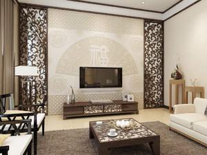 中式电视墙装修图片大全,电视墙中式传统装修图片大全