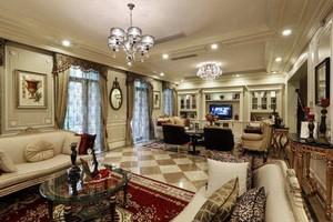美式风格客厅吊灯效果图,客厅两个吊灯效果图