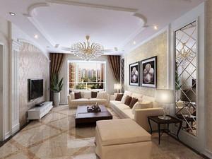 客廳裝吊燈效果圖,客廳水晶玉石吊燈裝修效果圖