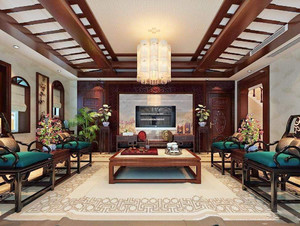 客厅圆形吊灯装修效果图,客厅流行吊灯效果图