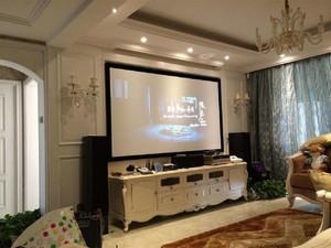 家用投影儀客廳效果圖,客廳投影儀吊頂效果圖