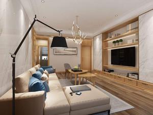 70平小户型新中式客厅装修效果图,香港70平小户型装修效果图
