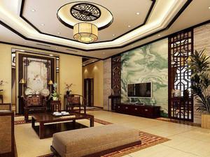 家装中式客厅设计效果图大全,中式家装客厅设计效果图