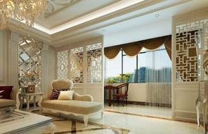 客厅阳台无门装修效果图,客厅和阳台无门一体装修效果图